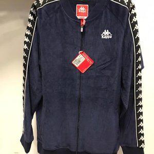 NWT KAPPA zip up Sweater soft navy jacket L